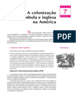 07 - A colonização espanhola e inglesa na América