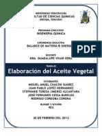 Elaboracion Del Aceite Vegetal!