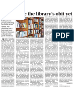 Don't write the library's obit yet.