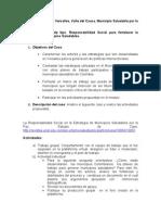 Formulación del estudio de caso del municipio de  Versalles. Colombia