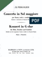 Pergolesi Concerto in Sol Maggiore Piano
