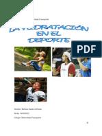 La hidratación y el deporte