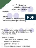 Tolerances - 1