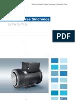 WEG Alternador Sincrono Linha g Plus 50013799 Catalogo Portugues Br