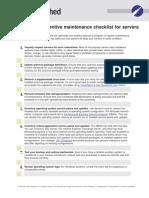Cl014 Preventive Maintenance Servers