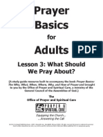 Prayer Basics Adult Lesson - Week Three