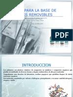 Resinas Para La Base de Protesis Removibles