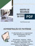 Gest+úo de recursos materiais de uso da enfermagem.