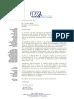 Carta Del IPYS Al Presidente Del Poder Judicial