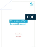Contract Proposal the Executive Plan