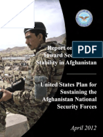 Afghanistan- Report on Progress Towards Security and Stability in Afghanistan-US Plan for Sustaining the Afghan National Secuity Forces