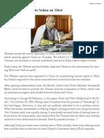 Sardar Patel's letter to Nehru on Tibet (1950)