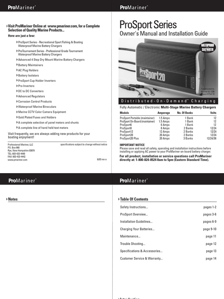 Prosport 6 Amp Wiring Diagram Libraries On Board Charger Pro Sport 12 Battery Electricity
