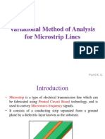 Variational Method of Analysis for Micro Strip Lines