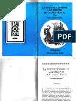 La autenticidad de los restos de Cuahutèmoc- Eulalia Guzman