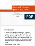 FEMA (Foreign Exchange &Management Act