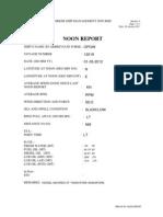 Vessel Noon Report 01 MAY 2012.