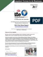 LTE World Summit 2011 Post Show Report