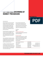 H-93481 Cutting Machining NOMEX Press Board