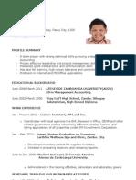 Sample Resume For Fresh Graduate Radiovkm Tk