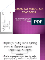 Oxidation-reduction Reactions Princess...