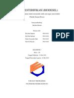 laporan biodesel
