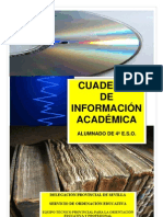 CUADERNO DE INFORMACIÓN ACADÉMICA ESO  2012-13