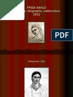 Frida Kahlo - Sketches, Litographs, Watercolors (1932)