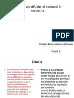 Aplicatii Ale Difuziei Si Osmozei in Medicina.grupa II