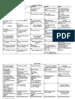 Second Sem Calendar 2012