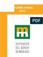 Defensor del menor de Andalucia Informe Anual 2010