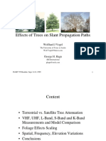 Effects of Trees on Slant Propagation Paths