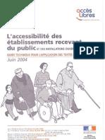 L'accessibilité des ERP aux handicapés