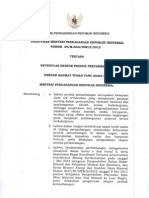 PERMENDAG 29/M-DAG/PER/5/2012 Ketentuan Ekspor Produk Pertambangan