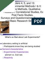 Non Experimental Methods