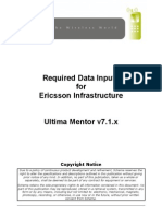 APPENDIX G - Ultima Mentor Version 7 1 - Required Data Inputs for Ericsson