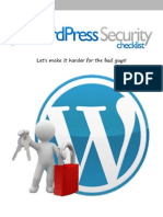 The WordPress Security Checklist