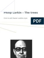 2.Philip Larkin the Trees