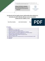 Evaluación de las implicaciones ambientales derivadas de la introducción del vehículo eléctrico en la Comunidad Autónoma de Castilla y León