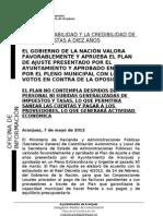 APROBADO EL PLAN DE AJUSTE MUNICIPAL