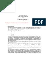 Lab Assignment 7