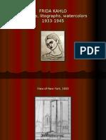 Frida Kahlo - Sketches, Litographs, Watercolors (1933-1945)