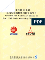 Deutz 226B Operation Manual