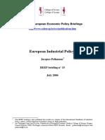 European industrial policy(Eng)/ Política industrial europea(Ing)/ Europako politika industriala
