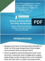 Studi Biaya Pokok Pengolahan Tanah Sawah dengan Berbagai Alat Pengolah Tanah di Kabupaten Solok dan Kota Padang Sumatera Barat
