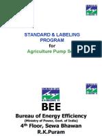 STANDARD & LABELING for Agricultural Pumpset