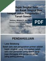 Studi Bajak Singkal Satu Telapak dan Bajak Singkal Dua Telapak untuk Pengolahan Tanah Sawah