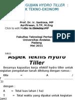 Teori Pengujian Hydro Tiller - Aspek Tekno-Ekonomi