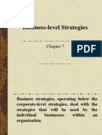 Business Level Strategies