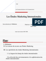 Les Etudes Marketing Inter Nation Ales